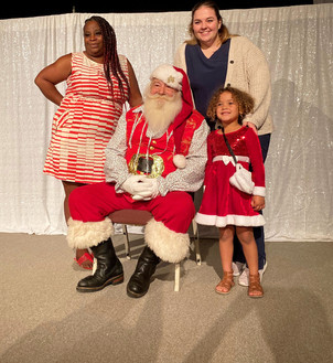 Photos with Santa after our holiday show