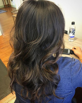 Retouch color, light balayage, and long