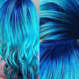 Blue hair_💙_💙_💙_💙 _#bluehair #blueha