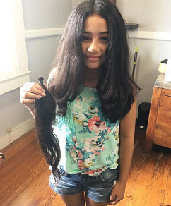 This sweetheart had her first REAL hairc