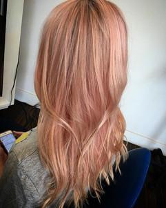 🍓🍑 #pinkhair #peachhair #haircolor #ha