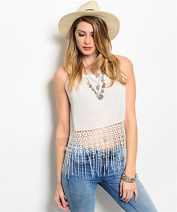 FRINGE Right Crop Top