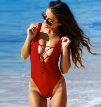 Red ROBIN One piece swimsuit