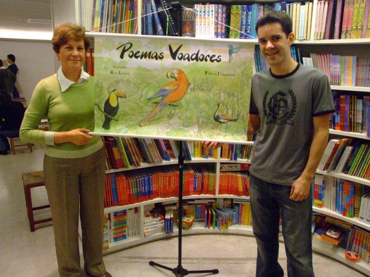 Rita Lauria, ilustradora do livro