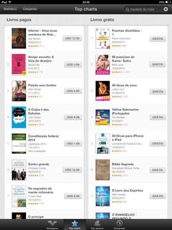 Primeiro lugar na iBooks