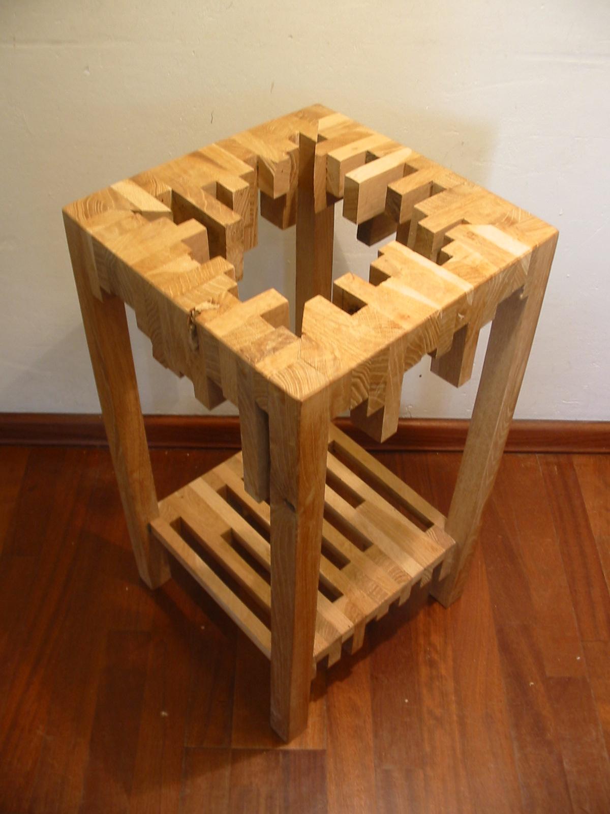 Een gat van hout