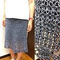 お客様完成作品のご紹介です✨👏✨👏_かぎ針指導員の課題セミタイトスカートです