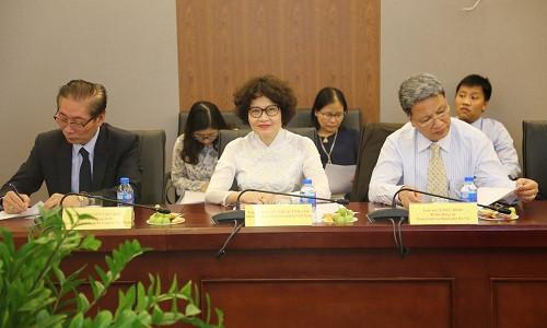 Lãnh đạo Liên đoàn Luật sư Việt Nam tại buổi làm việc