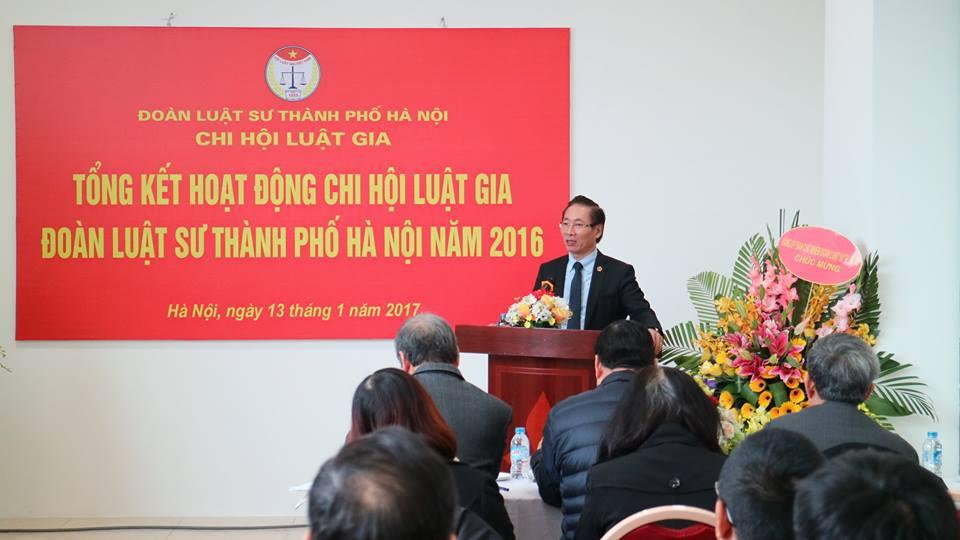 LS.Nguyễn Văn Chiến, Phó Chủ tịch LĐLSVN, Chủ nhiệm ĐLS TP. Hà Nội phát biểu tại hội nghị