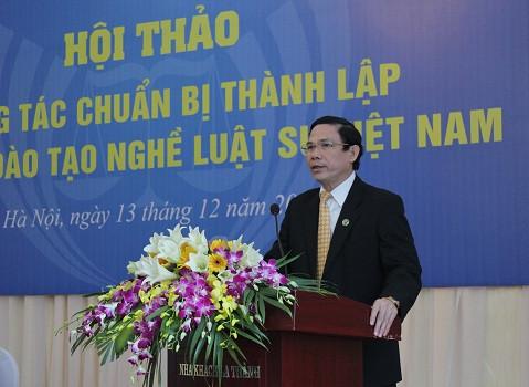 TS. LS. Nguyễn Đình Thơ - Ủy viên BTV, Chủ nhiệm Ủy ban Đào tạo, bồi dưỡng phát biểu tại Hội thảo