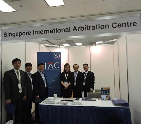 Đoàn công tác VBF thăm Kios Trung tâm Trọng tài Quốc tế Singapore