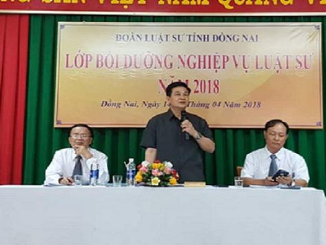 Chủ tịch Liên đoàn Luật sư tham gia bồi dưỡng nghiệp vụ cho luật sư tỉnh Đồng Nai