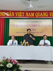 Luật sư Đỗ Ngọc Thịnh, Chủ tịch Liên đoàn Luật sư Việt Nam tham gia bồi dưỡng