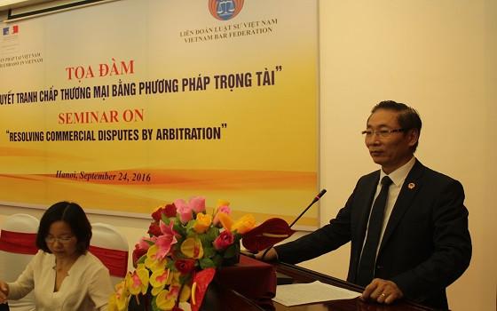 Phó Chủ tịch Nguyễn Văn Chiến phát biểu tại buổi tọa đàm