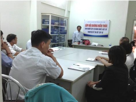 Ban chủ nhiệm ĐLS tỉnh Đắk Lắk tổ chức LBD KTPL cho người tập sự hành nghề luật sư