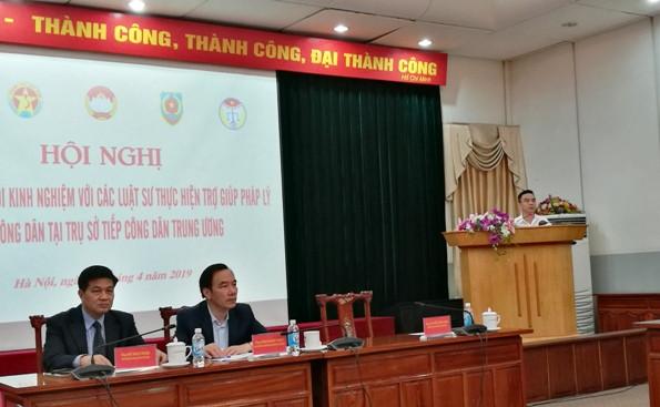 Ông Nguyễn Hồng Điệp trao đổi về yêu cầu và kinh nghiệm tiếp công dân