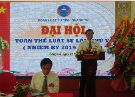 Đoàn Luật sư tỉnh Quảng Trị tổ chức Đại hội khóa V (nhiệm kỳ 2019-2024)