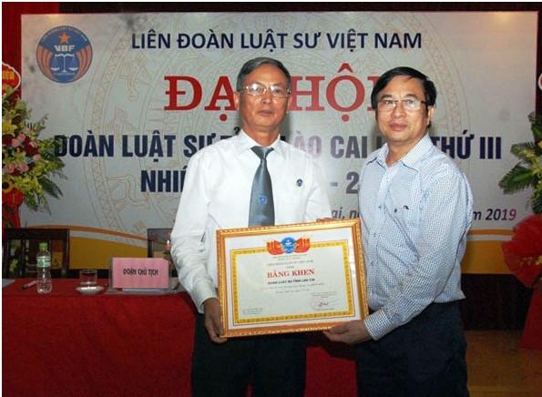 Liên đoàn Luật sư Việt Nam tặng Bằng khen cho Đoàn Luật sư tỉnh Lào Cai