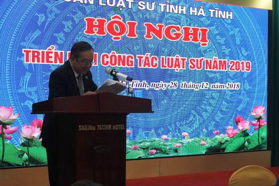 Luật sư Phan Duy Phong, Chủ nhiệm Đoàn khai mạc Hội nghị