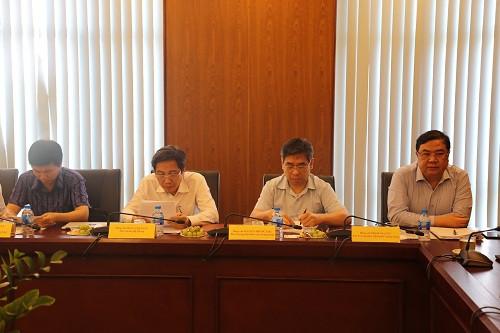 Đại diện lãnh đạo Bộ, ngành Trung ương tại buổi làm việc