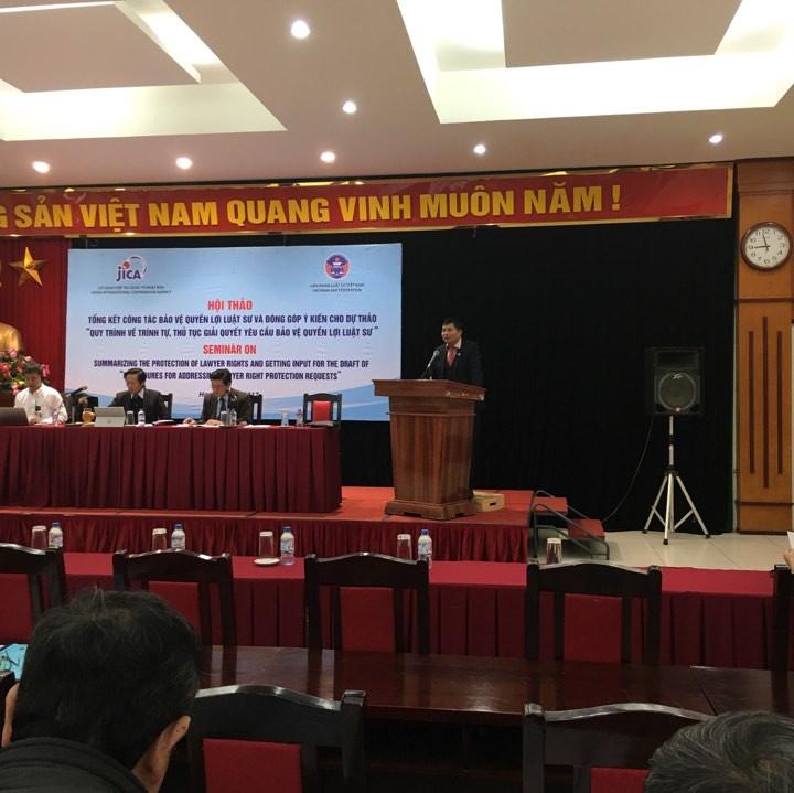 LS. Trương Xuân Tám - PCN Ủy ban bảo vệ quyền lợi luật sư thuộc LĐLSVN phát biểu
