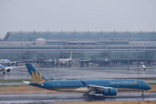 Chuyến bay VN384 đưa Đoàn công tác VBF tới Tokyo, Nhật Bản