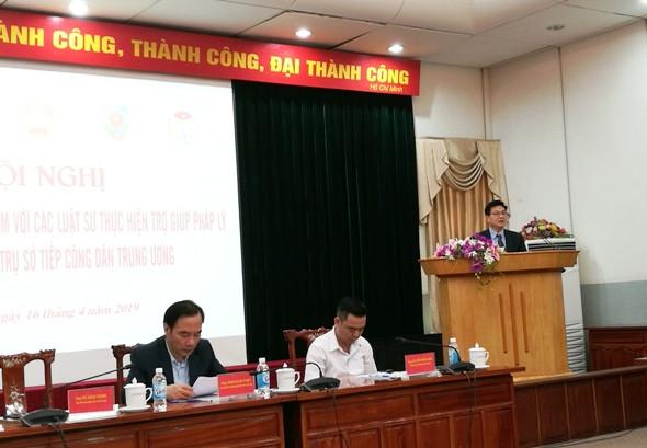 Chủ tịch Liên đoàn Luật sư Việt Nam báo cáo kết quả công tác luật sư trợ giúp pháp lý tại Trụ sở tiếp dân Trung ương
