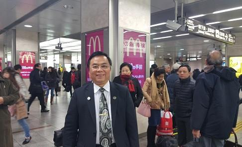 Luật sư Bùi Quang Sinh - Chủ nhiệm Đoàn Luật sư tỉnh Quảng Trị, thành viên Đoàn Công tác VBF tại Nhật Bản