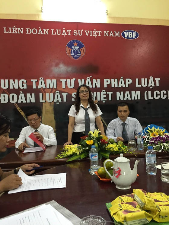 Luật sư Nguyễn Thị Kim Thanh, Ủy viên Ban Thường vụ, Giám đốc Trung tâm tư vấn pháp luật