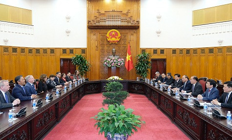 Thủ tướng Chính phủ tiếp Đoàn đại biểu Hiệp hội Luật sư Hoa Kỳ
