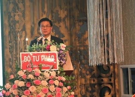 Đồng chí Đỗ Ngọc Thịnh, Chủ tịch Liên đoàn Luật sư Việt Nam phát biểu chỉ đạo tại Đại hội
