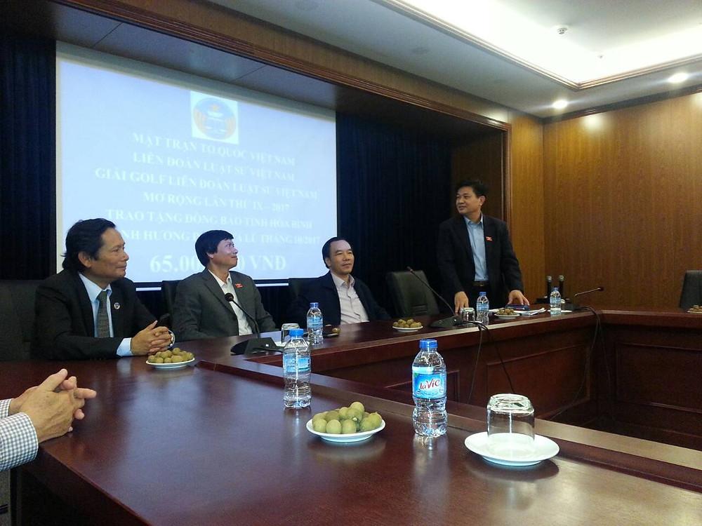 LS. Đỗ Ngọc Thịnh, Chủ tịch LĐLSVN, ĐBQH tỉnh Khánh Hòa, phát biểu tại buổi Lễ