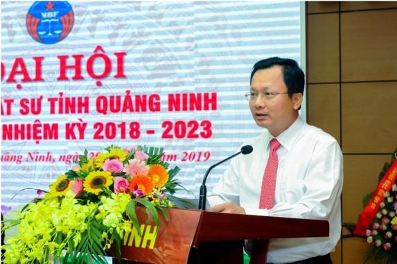Ông Cao Tường Huy - Ủy viên Ban Thường vụ Tỉnh Ủy, Phó Chủ tịch UBND tỉnh Quảng Ninh phát biểu, chỉ đạo tại Đại hội