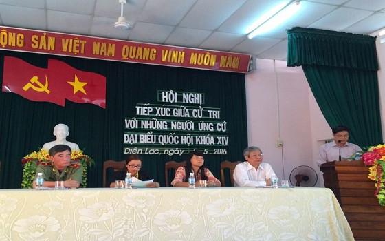 Chủ tịch Liên đoàn Luật sư Việt Nam Đỗ Ngọc Thịnh trình bày Chương trình hành động của ứng cử viên ĐBQH khóa XIV