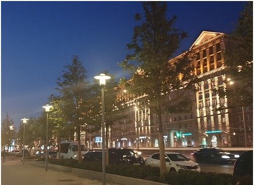 Một góc phố Moskva yên bình về đêm… Ảnh: Hoài Phan.