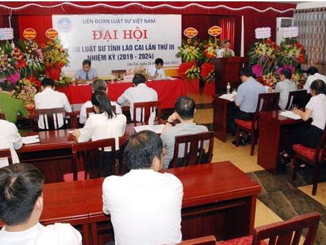 Đại hội Đoàn Luật sư tỉnh Lào Cai lần thứ III, nhiệm kỳ 2019 - 2024