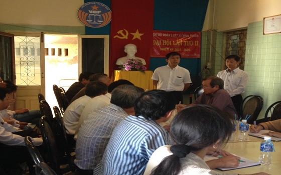 Chủ tịch Đỗ Ngọc Thịnh phát biểu tại buổi làm việc