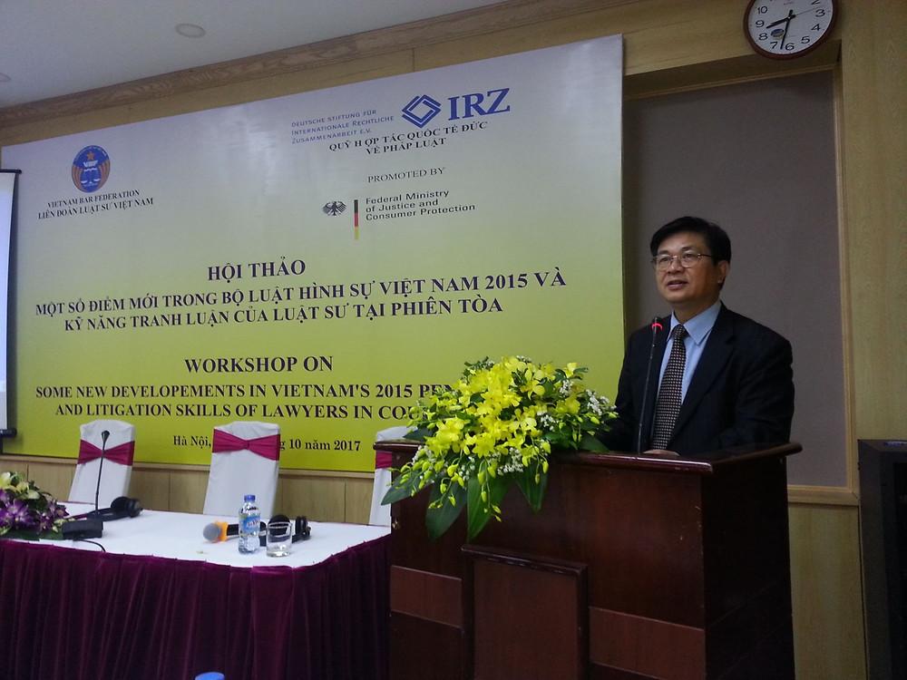 LS. Đỗ Ngọc Thịnh, Chủ tịch LĐLSVN, phát biểu khai mạc Hội thảo tại Hà Nội