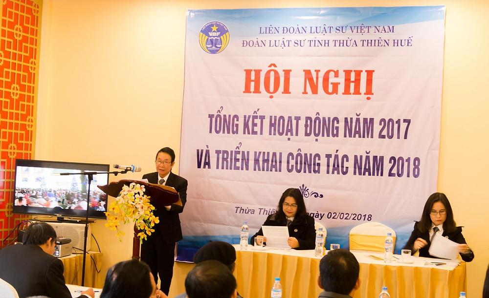 Luật sư Trần Công Tư, Chủ nhiệm Đoàn luật sư phát biểu tại Hội nghị