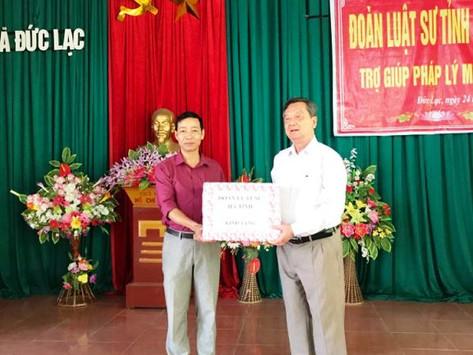 Luật sư Hà Tĩnh tiếp tục tổ chức trợ giúp pháp lý miễn phí tại xã Đức Lạc, huyện Đức Thọ, Hà Tĩnh