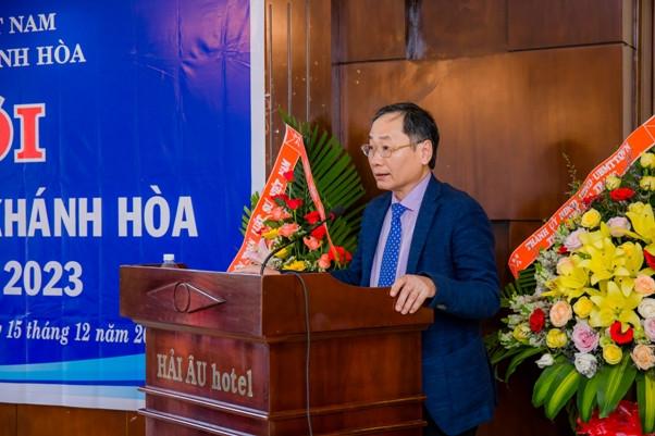 Ông Nguyễn Đắc Tài, Phó chủ tịch UBND tỉnh Khánh Hòa phát biểu tại Đại hội