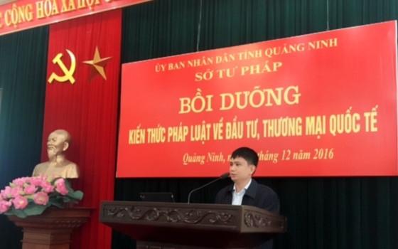 Đ/c Nguyễn Văn Túc – Phó giám đốc Sở Tư pháp khai mạc lớp bồi dưỡng