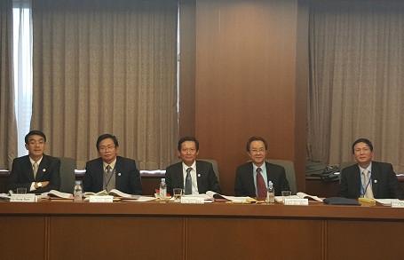 Đoàn công tác VBF tại một cuộc hội thảo tại Nhật Bản