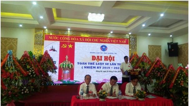 Ông Nguyễn Đức Chính – Chủ tịch UBND tỉnh Quảng Trị phát biểu tại Đại hội