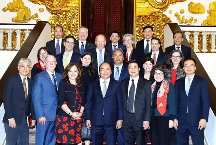 Thủ tướng Chính phủ chụp ảnh lưu niệm với các đại biểu ABA và LĐLSVN