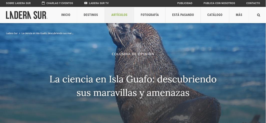 La ciencia en Isla Guafo descubriendo su