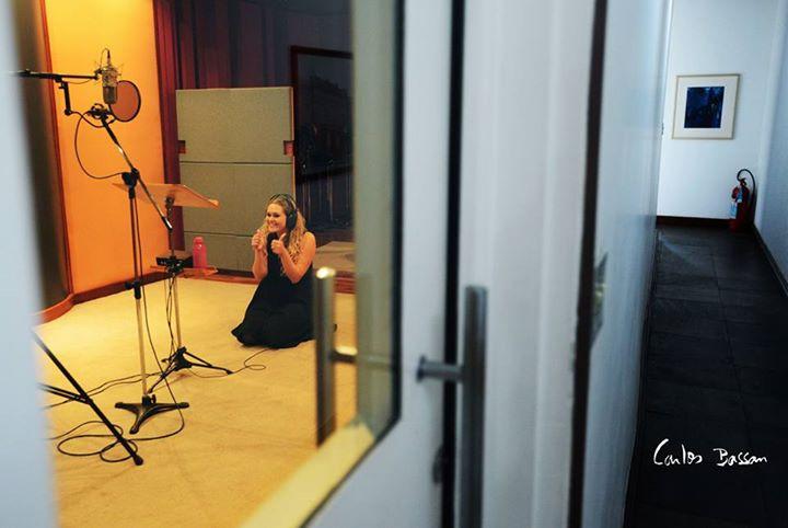 Clique de Carlos Bassn registra a finalização das gravações do CD Carlos Gomes árias e canções, Campinas 2016.