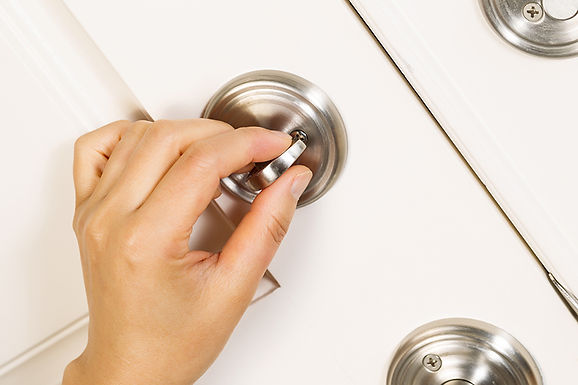 turning dead bolt,  easy home security tips, efficient home security, increase home security, how to keep your home safe