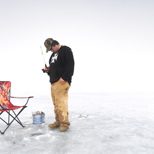 Ice Hole Fishing