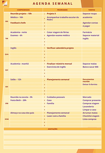 Agenda Semanal - OPRAH7